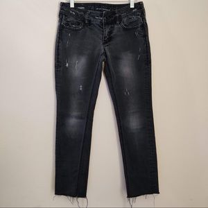 Affliction Raquel Skinny Fit Distressed Jeans